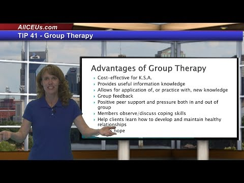 TIP41  Group Therapy for Counseling Training and CEUs for LPC and Addiction Counselors