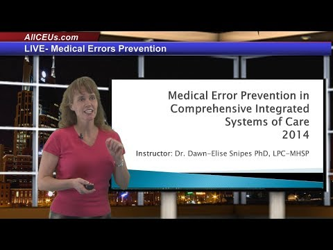 Live Medical Error Prevention 3 for LPC, LMHC,and Addiction Counselor CEUs | Training in Counseling