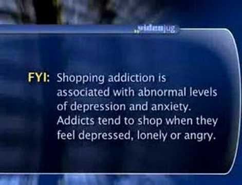 What causes shopping addiction?